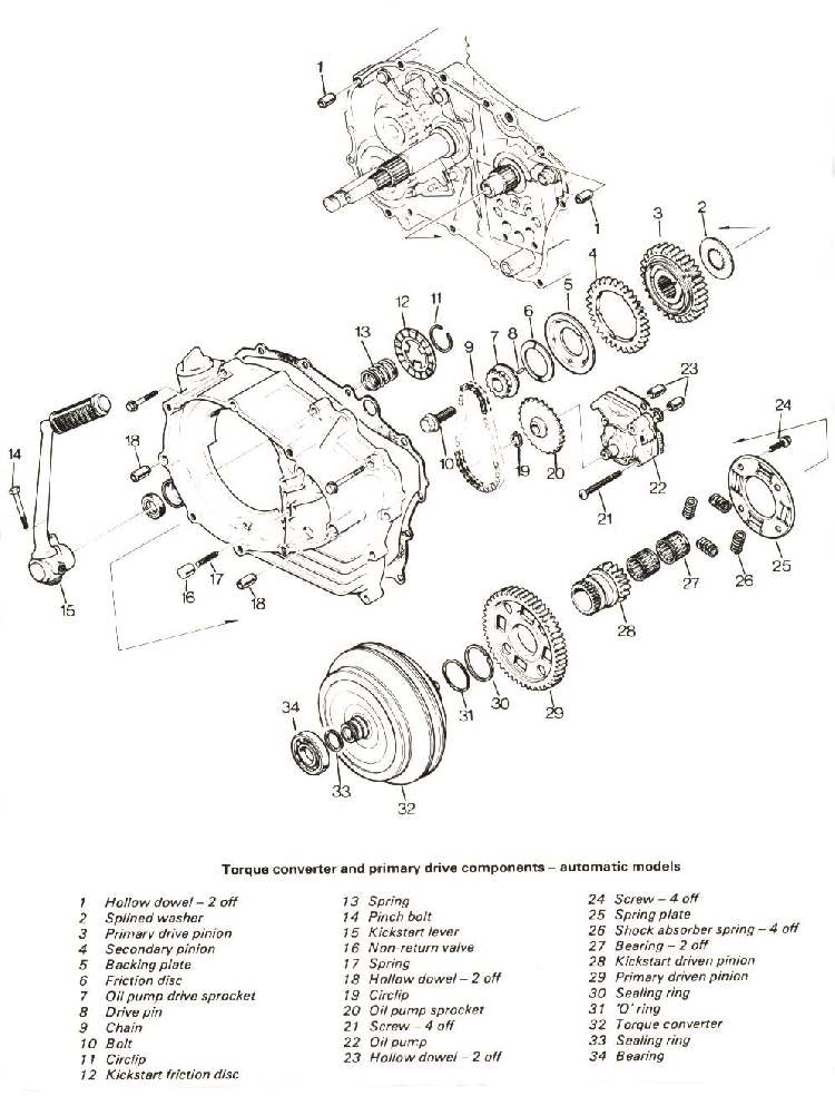 dan u0026 39 s motorcycle exploded automatic clutch views